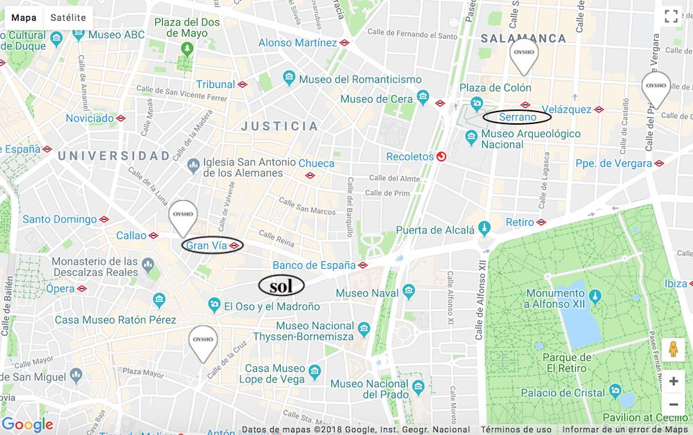 oysho地図