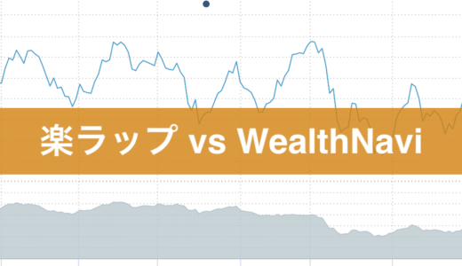 楽ラップ  VS WealthNavi 運用の比較 その1