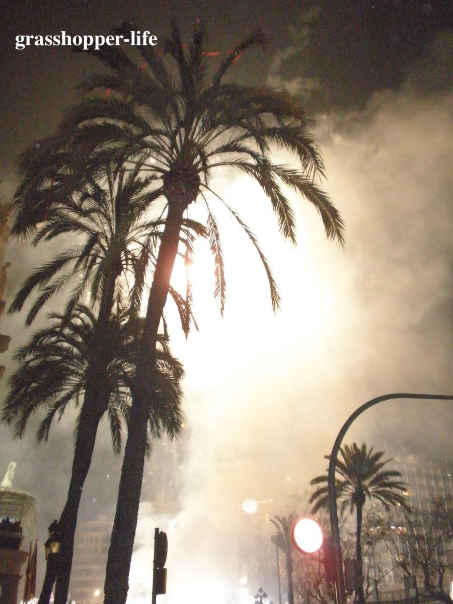 バレンシアの火祭りクライマックス